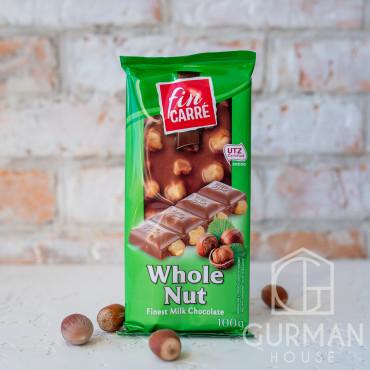 Молочный шоколад с лесными орехами Fin Carre 100 г