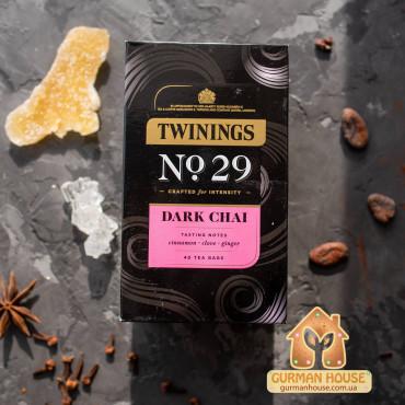 Чай черный, пакетированный Dark Chai Twinings