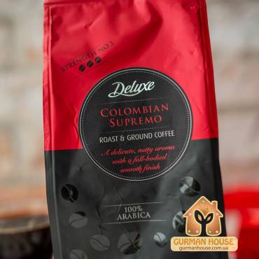 Кофе Deluxe Colombian Supremo молотый 100 % арабика 227 г