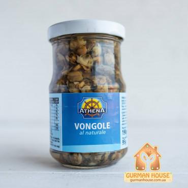 Моллюски Вонголе Vongole Athena в собственном соку 190 г