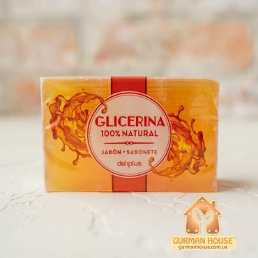 Натуральное увлажняющее твердое глицериновое мыло Deliplus