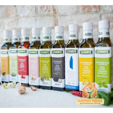 Оливковое масло первого холодного отжима с базиликом Levante 250 мл