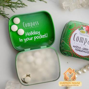 Освежающие драже со вкусом зеленого яблока Compass Fresh Mints