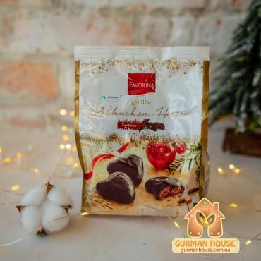 Рождественcкие пряники в черном шоколаде Favorina 300 г