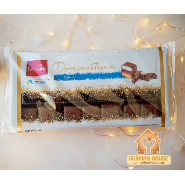 Рождественские конфеты в молочном шоколаде Домино Favorina